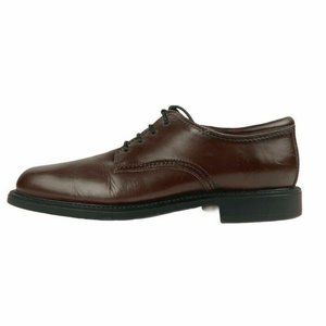 DOCKERS Mens Plain Toe Oxfords Shoes Brown Leather